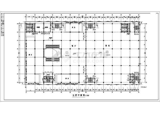 商场平面建筑设计施工CAD图-图2