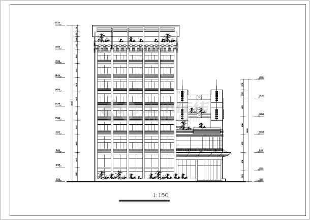 某地某主题酒店建筑设计图(共12张)-图1