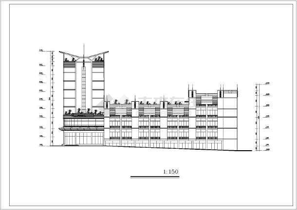 某地某主题酒店建筑设计图(共12张)-图2
