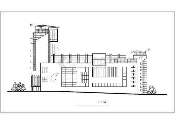 某地某主题酒店建筑设计图(共12张)-图3