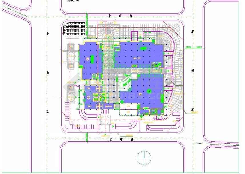 某地二十六层大型购物广场及办公楼建筑方案图-图1