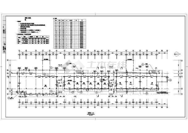 某商业街设计建筑施工CAD图-图一