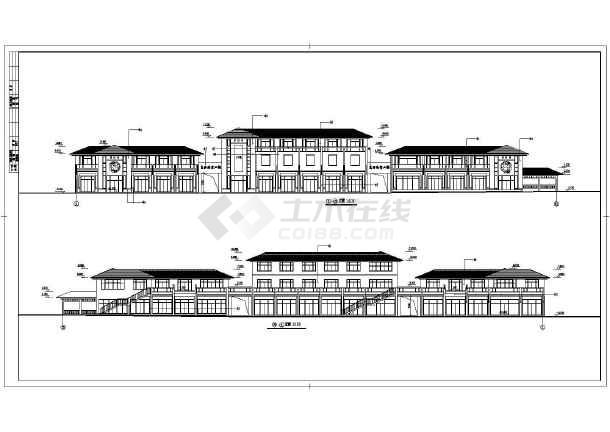 某商业街设计建筑施工CAD图-图二