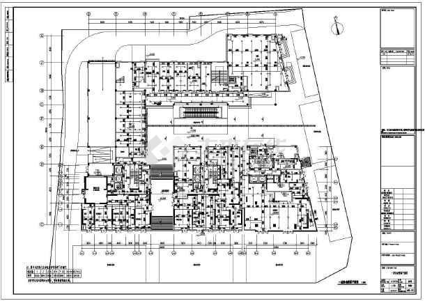 江苏高层商住楼给排水施工图-图1