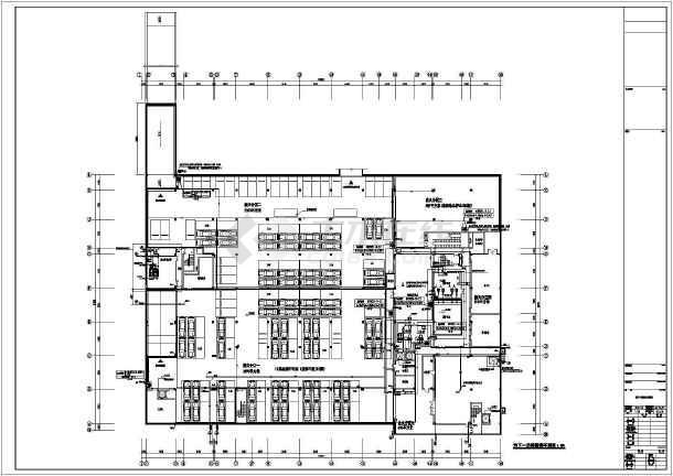 江苏监控中心给排水施工图-图1