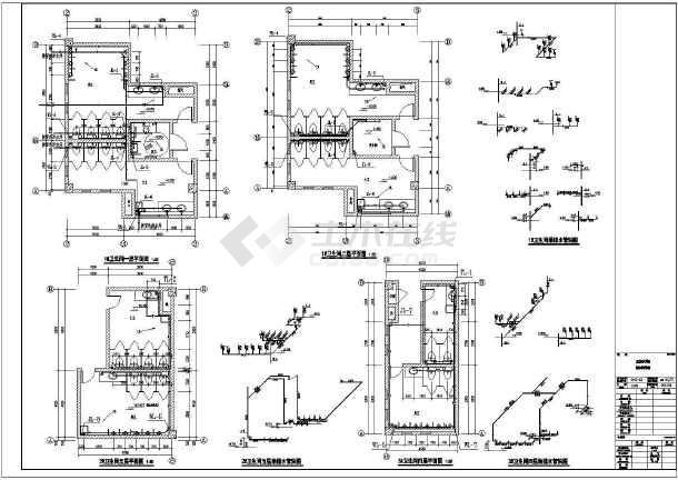 江苏监控中心给排水施工图-图3