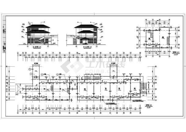 某商业街建筑设计CAD施工图-图一