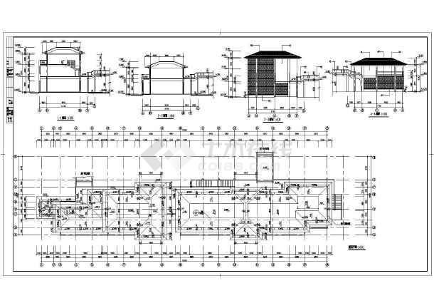某商业街建筑设计CAD施工图-图2