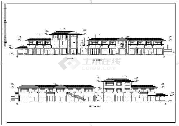 某商业街建筑设计CAD施工图-图3