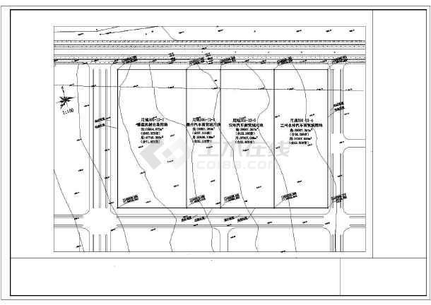 汽车城建筑规划设计施工CAD总图-图1
