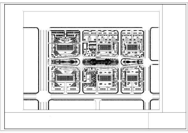 汽车城建筑规划设计施工CAD总图-图2