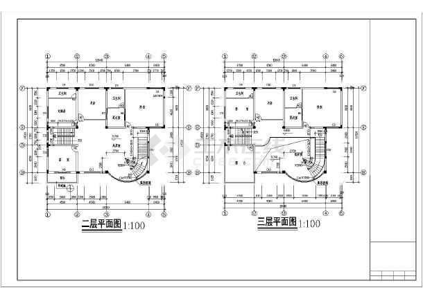 某新式别墅施工图全套-图1