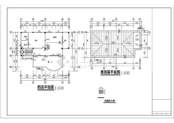 某新式别墅施工图全套-图2