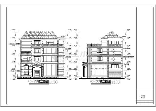 某新式别墅施工图全套-图3