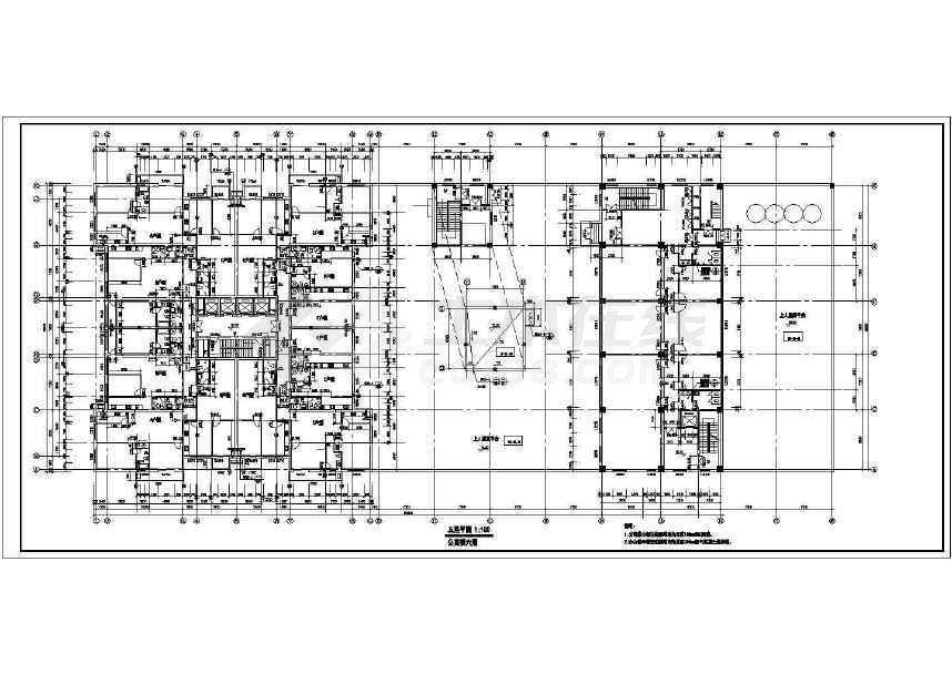 某地三十二层大型综合商业建筑施工图-图一