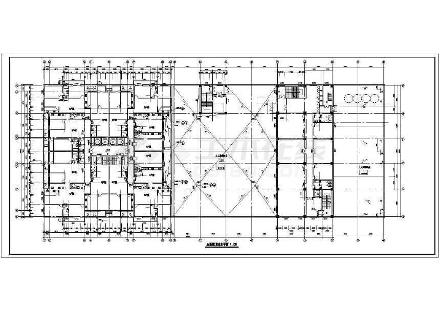 某地三十二层大型综合商业建筑施工图-图二