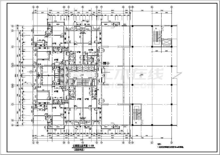 某地三十二层大型综合商业建筑施工图-图2