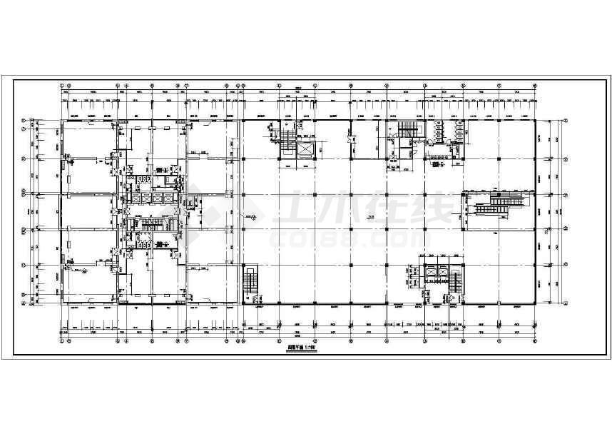 某地三十二层大型综合商业建筑施工图-图3