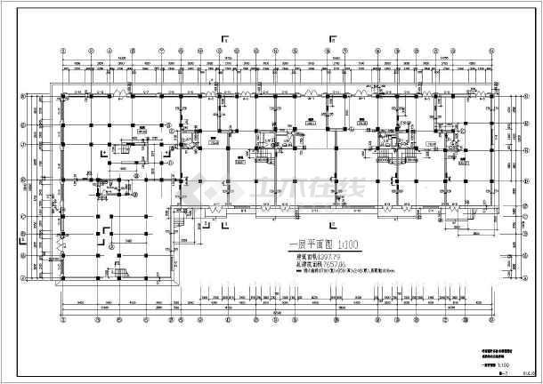 前进村农民集资楼平面图-图1