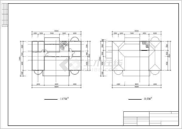 大型楼盘别墅建筑设计图纸-图2