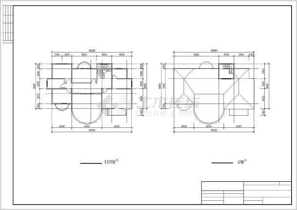 大型楼盘别墅建筑设计图纸-图3