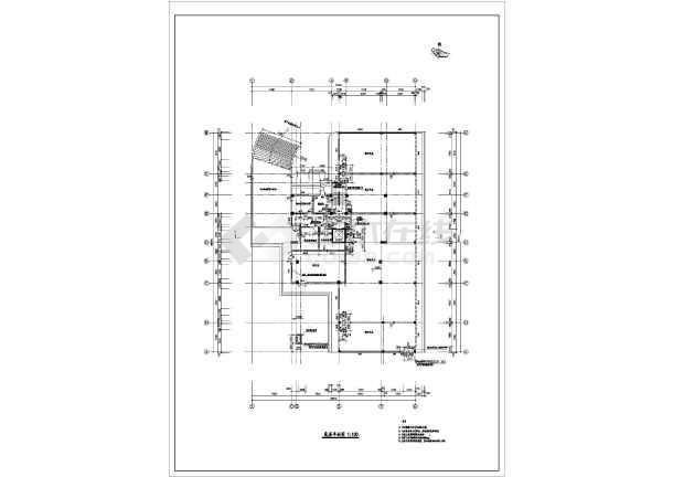 高层住宅楼施工设计平面图-图1