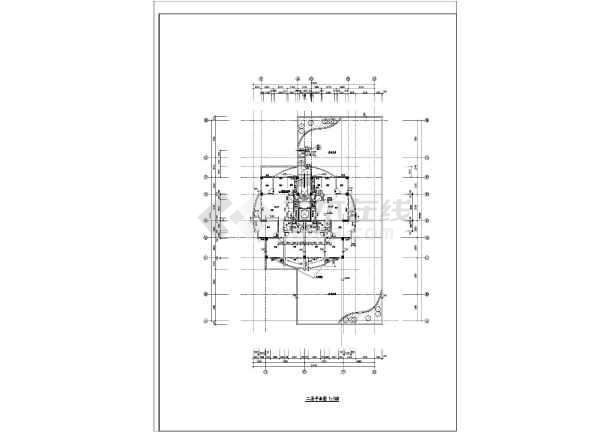 高层住宅楼施工设计平面图-图2
