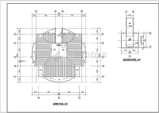 高层住宅楼施工设计平面图-图3