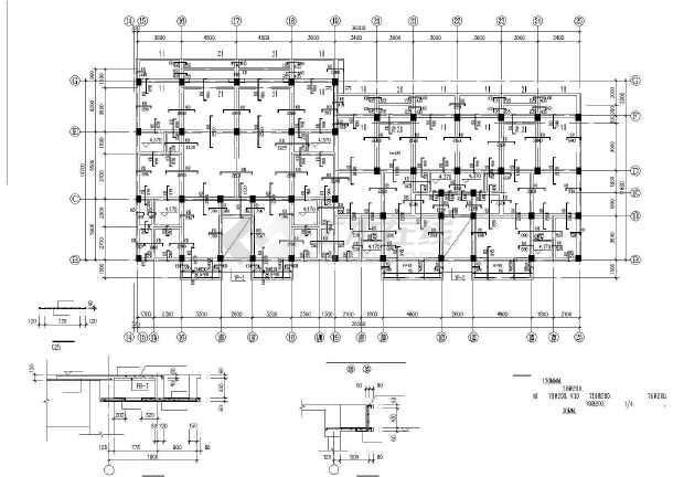 某底层框架多层砖房建筑结构设计图-图1