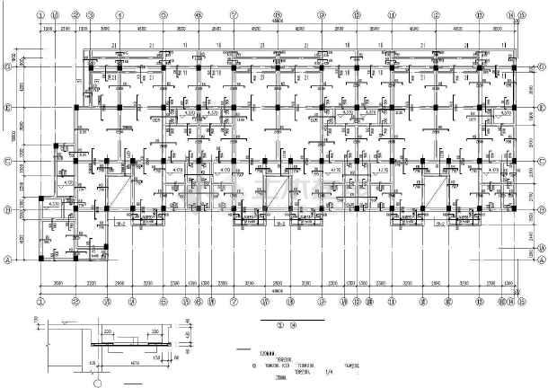某底层框架多层砖房建筑结构设计图-图2