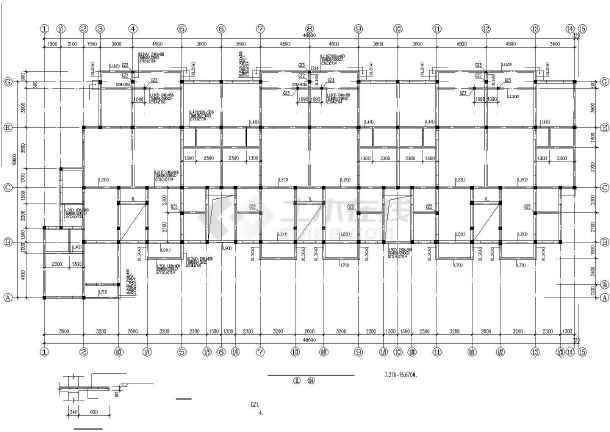 某底层框架多层砖房建筑结构设计图-图3