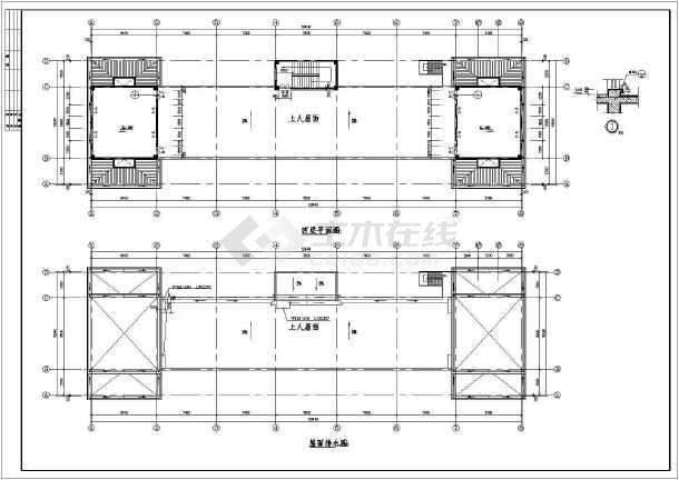 点击查看某社区商业楼建筑设计图纸第2张大图