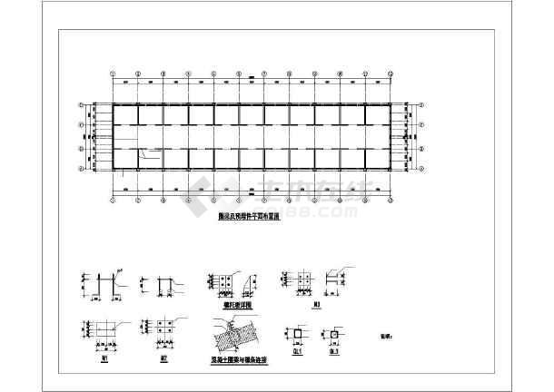单层钢框架结构施工图(地圈梁、坡屋顶)-图1
