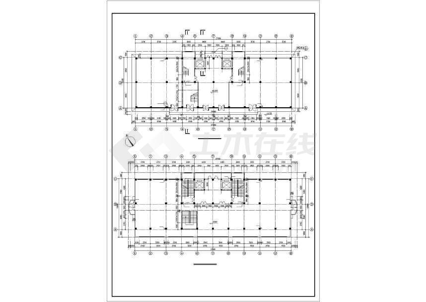 点击查看某地详细商业综合楼建筑施工图第1张大图