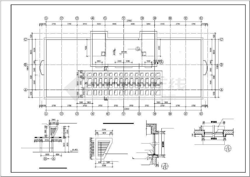 点击查看某地详细商业综合楼建筑施工图第2张大图