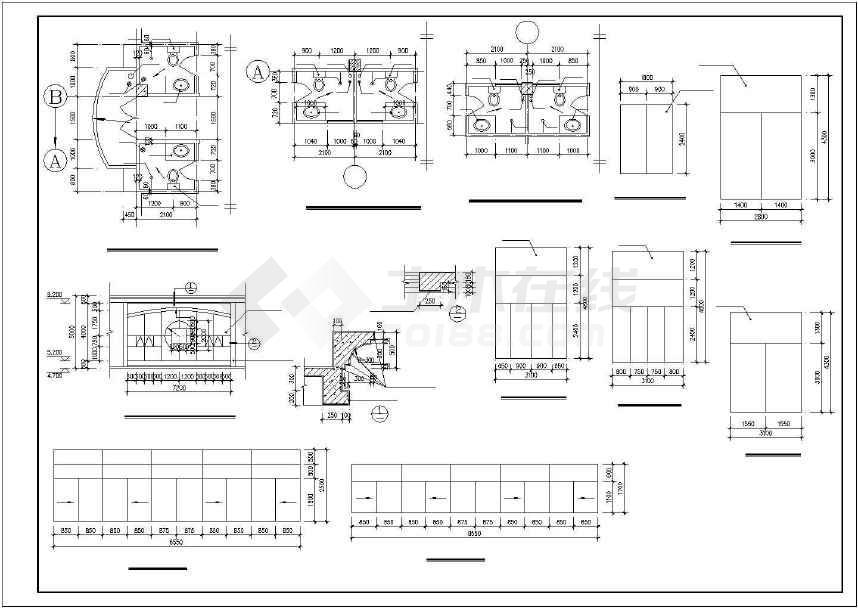 某地详细商业综合楼建筑施工图-图3