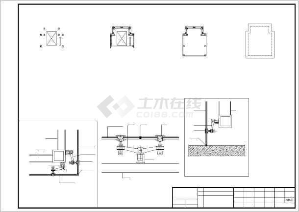 点击查看增建五层钢框架结构观光电梯结构施工图第1张大图