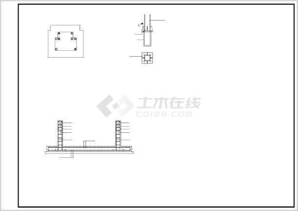 增建五层钢框架结构观光电梯结构施工图-图1