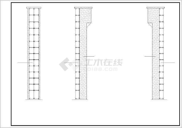 增建五层钢框架结构观光电梯结构施工图-图3