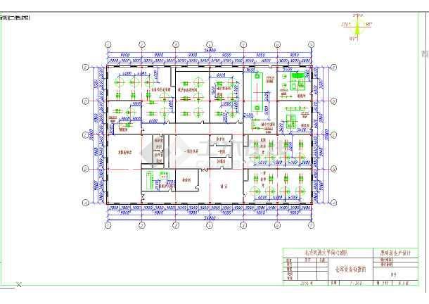 仓库设备布置图图CAD图-图1