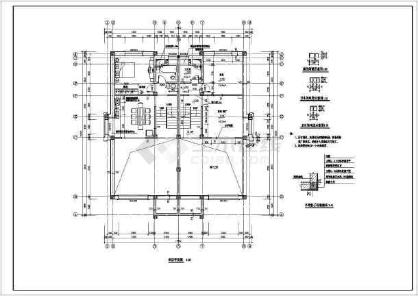 某住宅别墅建筑设计方案CAD图-图1