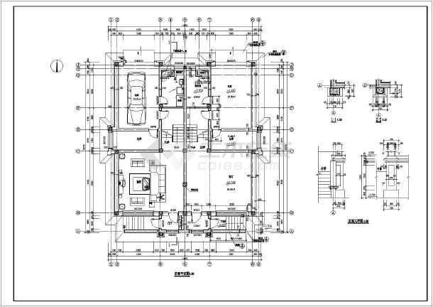 某住宅别墅建筑设计方案CAD图-图2