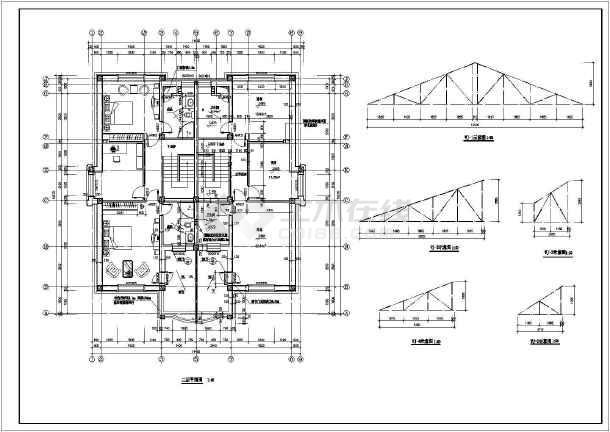 某住宅别墅建筑设计方案CAD图-图3