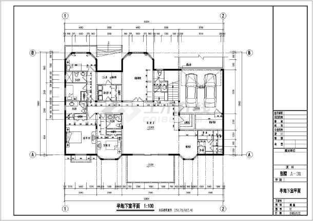 某豪华多层小别墅建筑设计图-图1