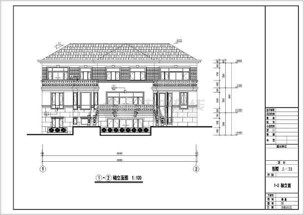 某豪华多层小别墅建筑设计图-图3