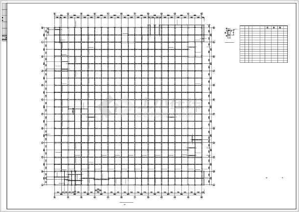 西安某框架商场结构设计图-图1