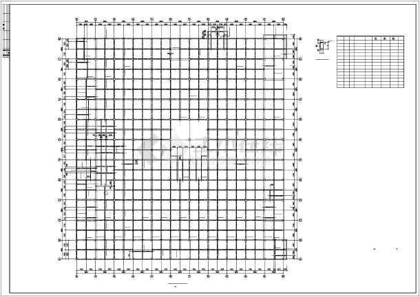 西安某框架商场结构设计图-图2
