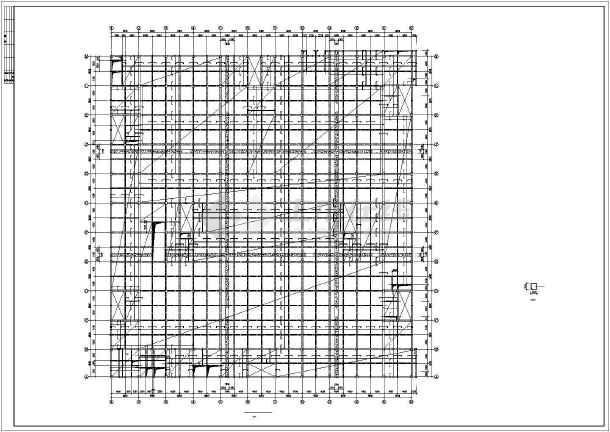 西安某框架商场结构设计图-图3