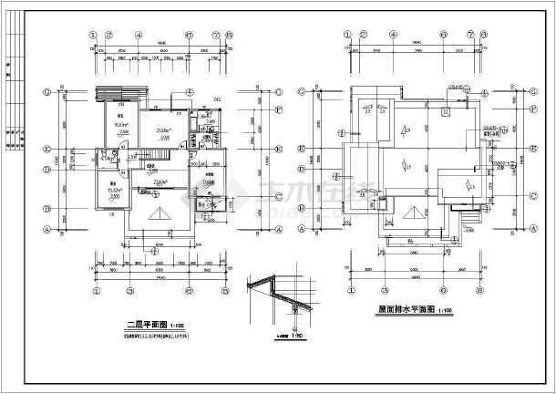 某住宅小区多层别墅建筑设计cad方案图-图3