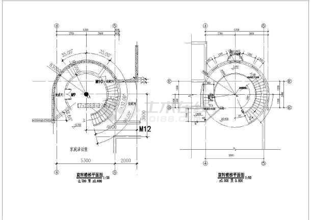 某花园式小别墅建筑设计cad图-图3